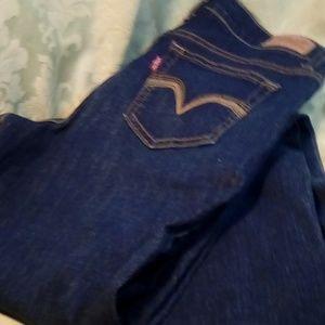 Levi's 512  blue straight leg W/27 L/32 jeans 4M